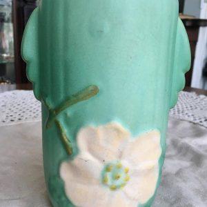 """Weller Pottery """"Wild Rose"""" Ceramic Vase"""