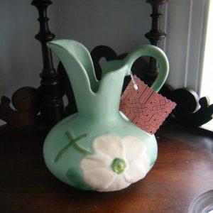 "Weller Pottery ""Wild Rose"" Ceramic Pitcher"