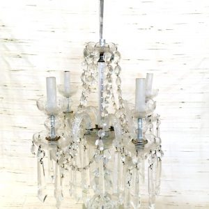 1930s Lead Crystal Candelabra