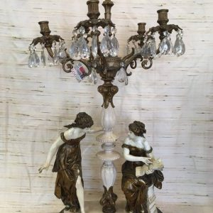 Double Female Figurine Candelabra