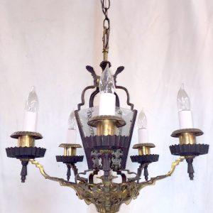 Brass 5- Light Chandelier