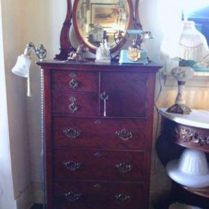 Mahogany Bonnet Chest