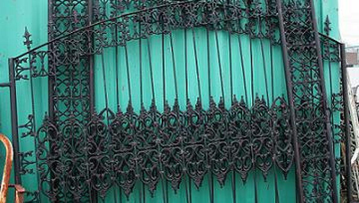 Stately Wrought & Cast Iron Entrance Gates