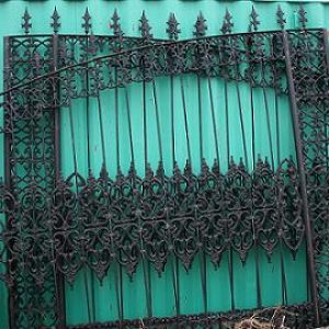 Stately Wrought & Cast Iron Entrance Gates