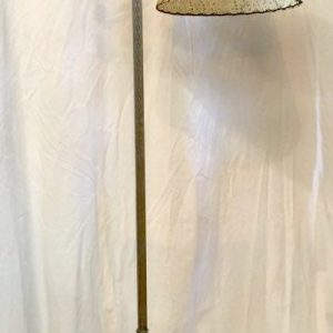 Ornate Bridge Floor Lamp with Parchment Shade