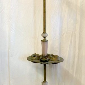Brass Floor Lamp with Pink Quartz