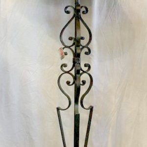 Iron Floor Lamp with Black & Gold Shade