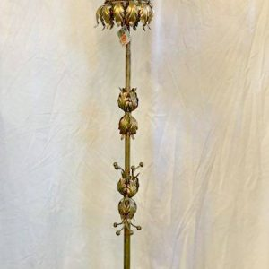 Italian Gilt/ Tole Floor Lamp