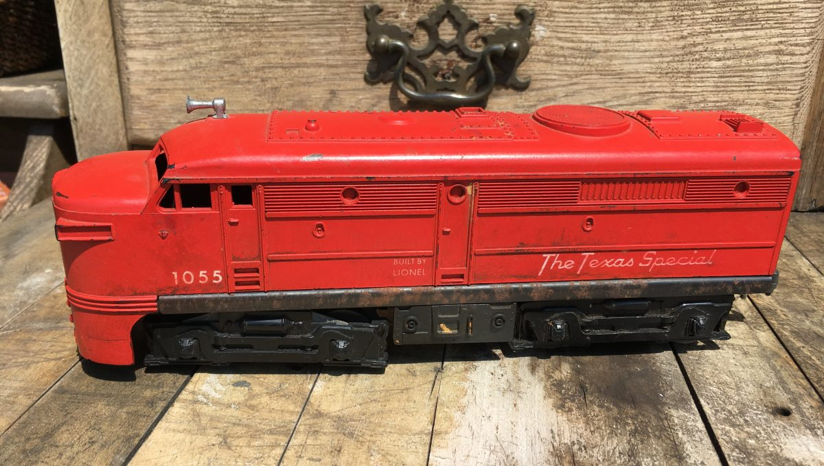 "Red ""Texas Special"" Lionel Train"