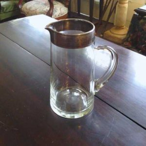 Silver and Glass Pitcher