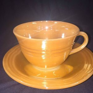 Fire King Peach Lusterware Cup Set