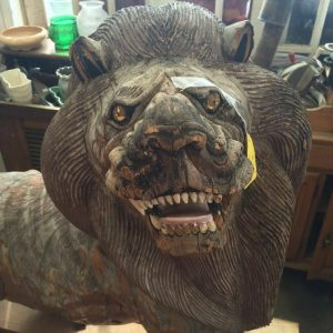 Solid Wood Lion