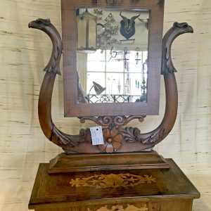 Early 1800s Wooden Vanity Mirror