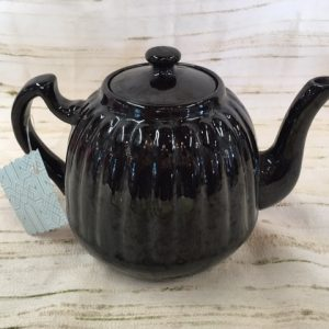 Black Glazed English Teapot