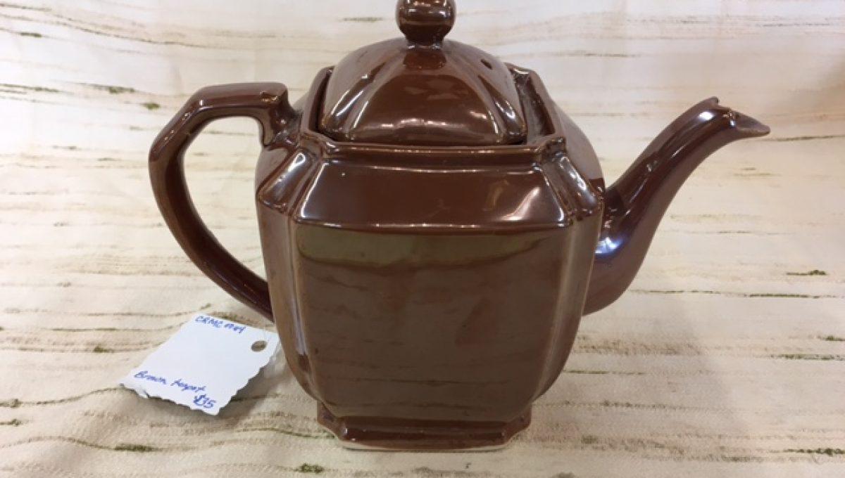 Brown Glazed Teapot