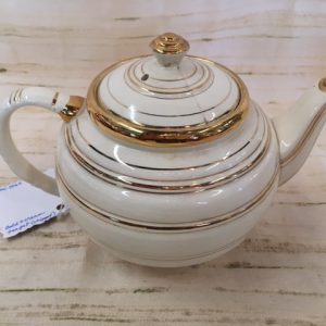 Gold and Cream Teapot