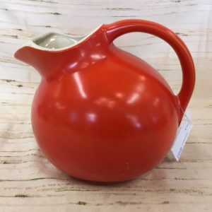 """USA"" Orange Ceramic Pitcher"