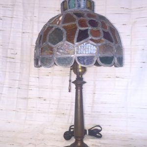 Arts & Crafts Brass Lamp