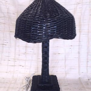 Black Wicker Table Lamp
