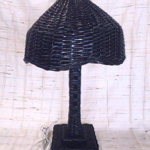 Black Wicker Table Lamp