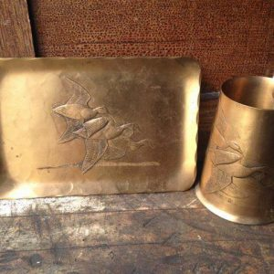 Solid Bronze Snack Set