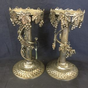 Metal Grapevine Candlesticks