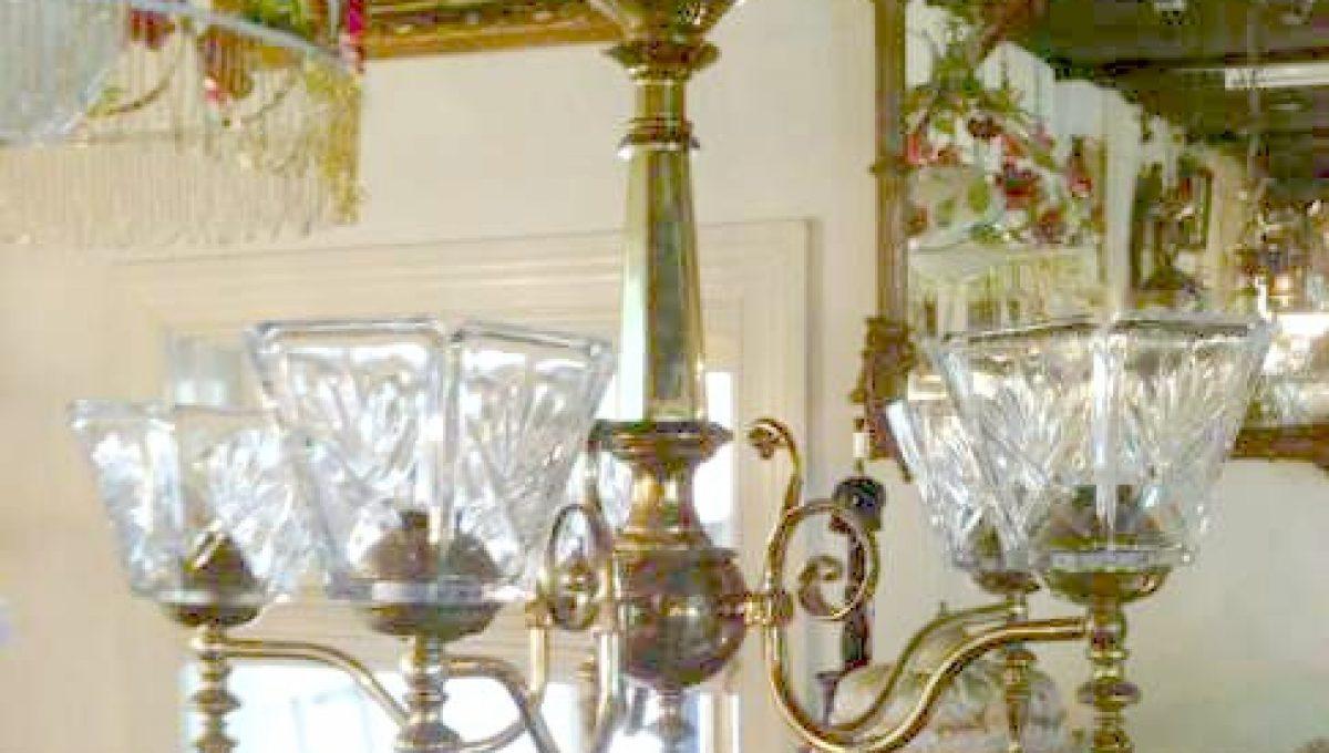 5-Armed Brass Chandelier