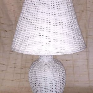 White Wicker Lamp
