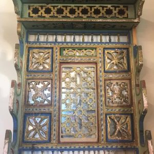 Moroccan Painted Sword Rack