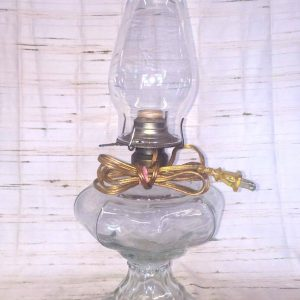 Converted Glass Oil Lamp