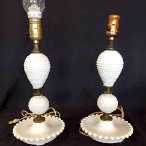 3-Tiered Milk Glass Lamps