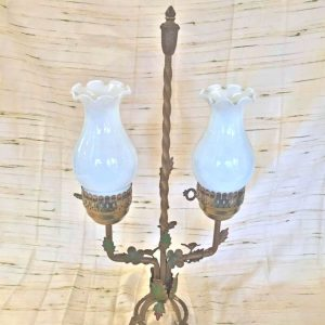 Double Converted Flower Oil Lamp