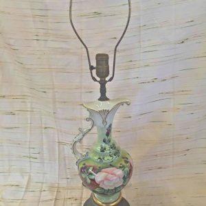 Ceramic Flower Pitcher Lamps