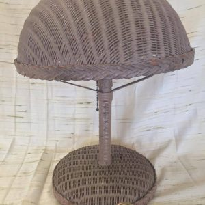Tan Wicker Lamp