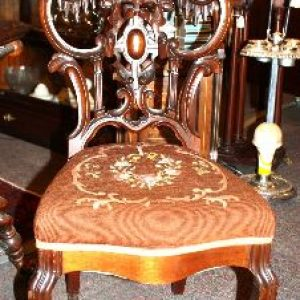 Victorian Linen Fold Side Chair