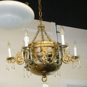 Solid Brass 7-Light Dome Chandelier