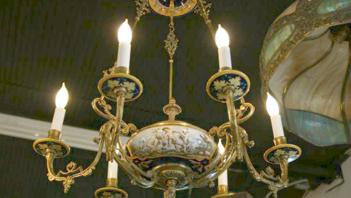 19th century french porcelain chandelier pauls place online 19th century french porcelain chandelier 125000 arubaitofo Images