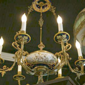 19th Century French Porcelain Chandelier