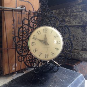 Vintage GE Scroll Wall Clock