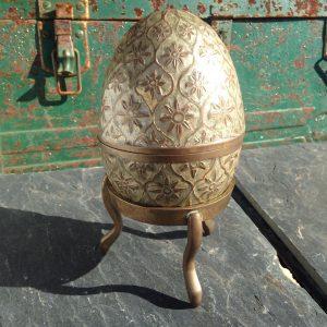 Cloisonné Hand Enameled Brass Egg