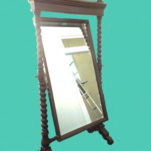 Mahogany Barley Twist Wardrobe Mirror