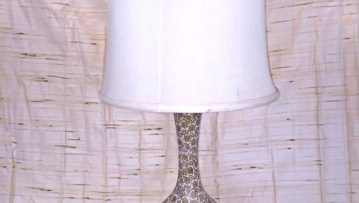 Gold Floral Vase Table Lamp