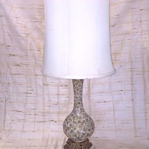 Gold Floral Vase Table Lamp