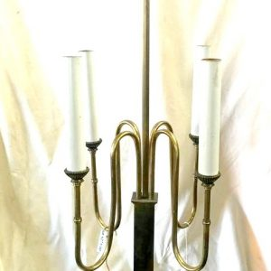 4-Light Brass Candle Table Lamp