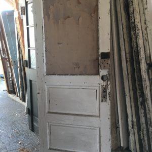 2-Panel Horizontal Half Glass Door