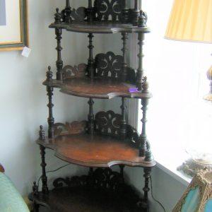 6-Tier Ornate Victorian Corner Etagere