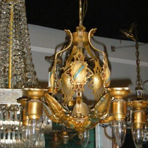5-Light Deco Crest Chandelier