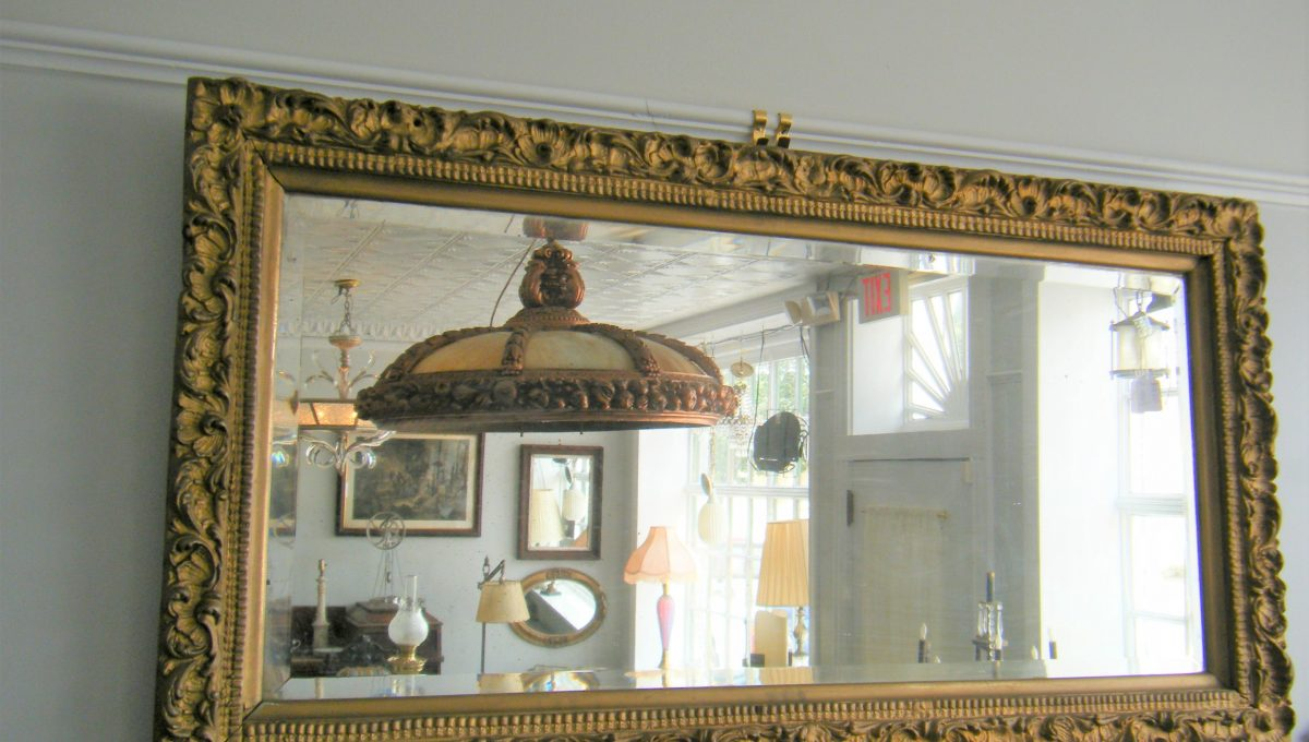 Ornate Plaster Beveled Mirror