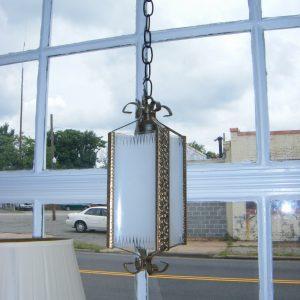 Simple Brass Hallway Light