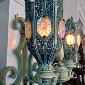 Blue Bohemian Metal Sconce